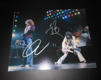 Led Zeppelin signed 8x10 photo - Robert Plant & Jimmy Page - autograph - rock band
