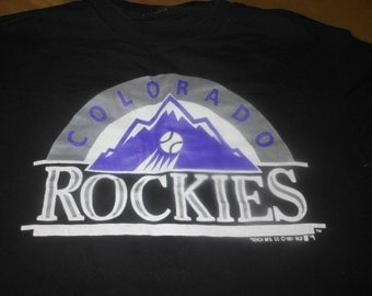 1991 RARE Colorado Rockies t shirt -  original t shirt before team debuted in 1993 - vintage 90s