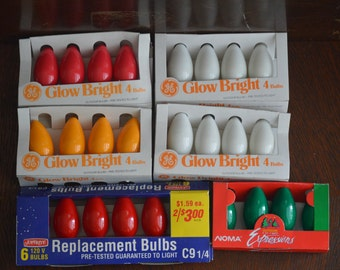 Vintage C9 Light Bulbs, New In Package *Free Shipping*