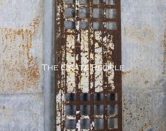 Antique 1900's Iron Prison Cell -- Inmate Door -- Architectural Salvage -- Old Jail Door