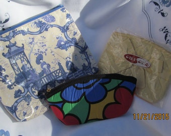 Set of 3 vintage cosmetic bags or small evening bag!