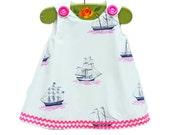 Girls Dress - Gift - Beach Dress - Go Sailing Dress - Curise Dress - Family Photo - Toddler Clothing - Newborn - 3M to 4T