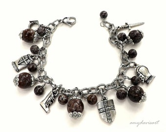 Full Armor of God Charm Bracelet, Christian Jewelry, Ephesians 6, Scripture Bracelet, Whole Armour of God, Religious Jewelry for Her