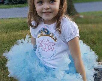 Blue Toddler Tutu - Blue Tutu - Blue Petti - Cinderella Tutu - Girls Blue Petti - Baby Tutu- Petti - Newborn Tutu -  Birthday Tutu - Tutu