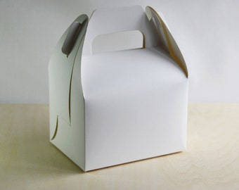 Set of 20, White Cake Box, Gift Box, Favor, Gift, Party