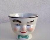 Vintage Wink man small cup mug for Baileys 1996 Ltd Edition 8 oz ceramic