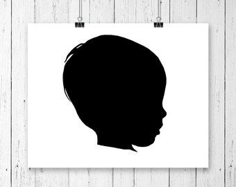 Custom portrait, profile silhouette, profile
