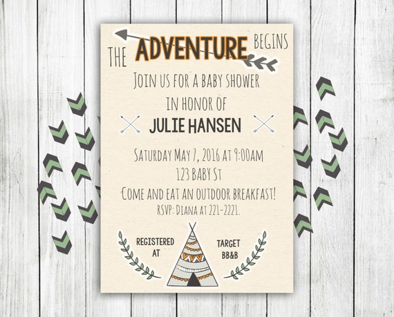 adventure baby shower invitation adventure baby shower baby shower