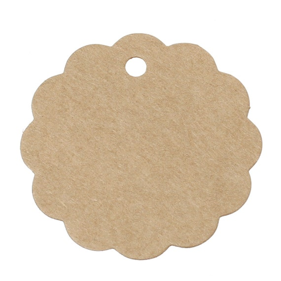 10pcs brown round paper label price tags 59x59mm for Price tags for craft shows
