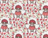 SALE! Cloud 9 Maman Petite Filles Fabric, Organic Cotton, 1/2 yard