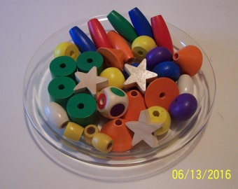Wooden Colorful Beads