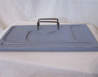 Vintage Dresser Valet Wood Tray Organizer Distressed Beach Cottage Shabby Chic