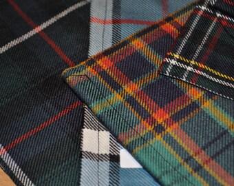 Tartan fabric, 100% wool. Remnant Pieces.