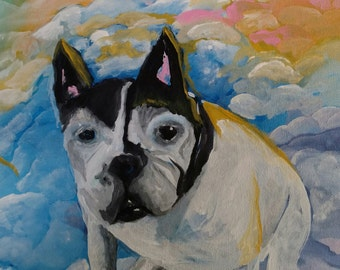 French Bulldog Painting-Original Art-Memorial Painting-Custom Painting-Your Pet-Animal Lover-Acrylic