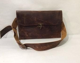 Leather Portfolio Bag,Laptop Bag Sleeve, Messenger Bag Leather Attache Case, Mad Men Inspired