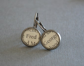 Fred and George Harry Potter Earrings