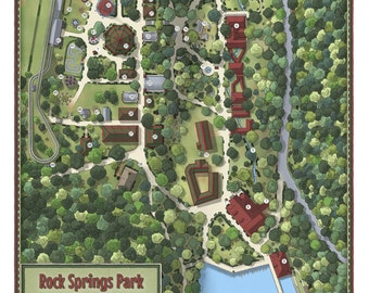 Map of Rock Springs Park, Chester, WV
