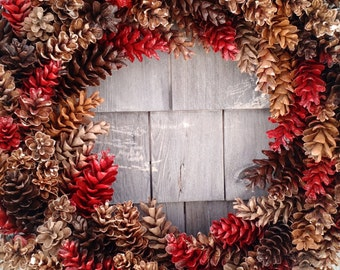Large Rustic Pinecone Wreath