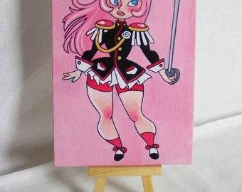5x7 Utena Painting - Revolutionary Girl Utena