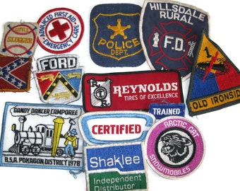 Lot of Vintage patches fire police first aid 80s 90s supplies accessories