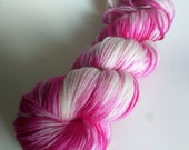 Pink Splotches on Squishysock MCN fingering weight yarn