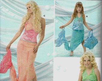 Kelly Anderson Simplicity 4043 Child's, Girls & Misses Mermaid Costume Pattern, All Sizes, UNCUT