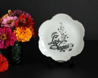Vintage Las Vegas Nevada Souvenir Plate