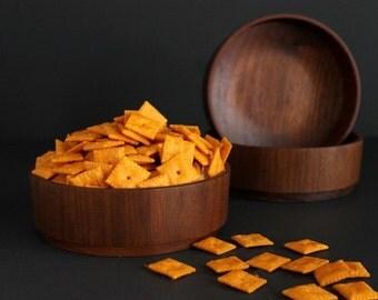 Vintage Wood Bowl Danish Modern by Gladmark of Burbank California Mid Century