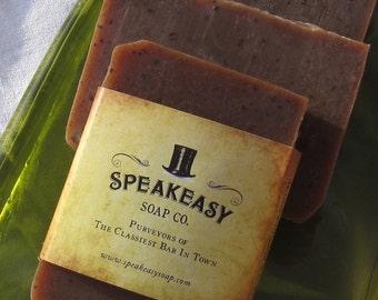 Shea Butter: Vanilla & Oatmeal Milk Scented Speakeasy Soap, vegan, handmade