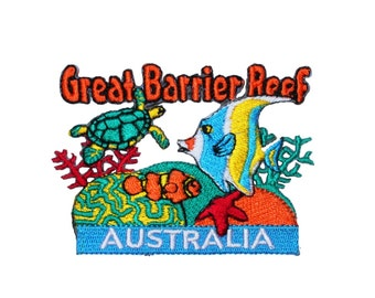 "Australia ""Great Barrier Reef"" Coral Sea Travel Patch Souvenir Iron-On Applique"
