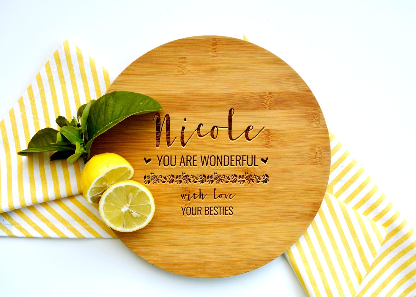 Personalized Cutting Board, Custom Cutting Board, Gift for Mum, Wonderful