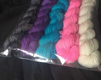 Electric Ladyland sock yarn miniskeins