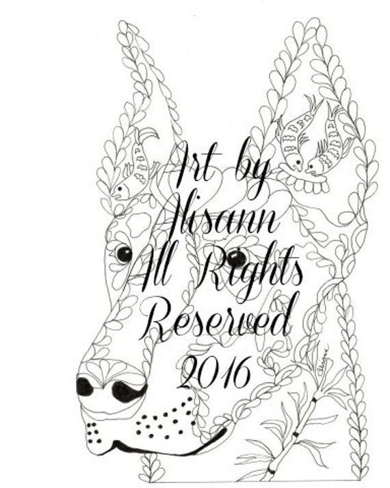 Doberman coloring pages for adults doberman best free for Doberman coloring pages