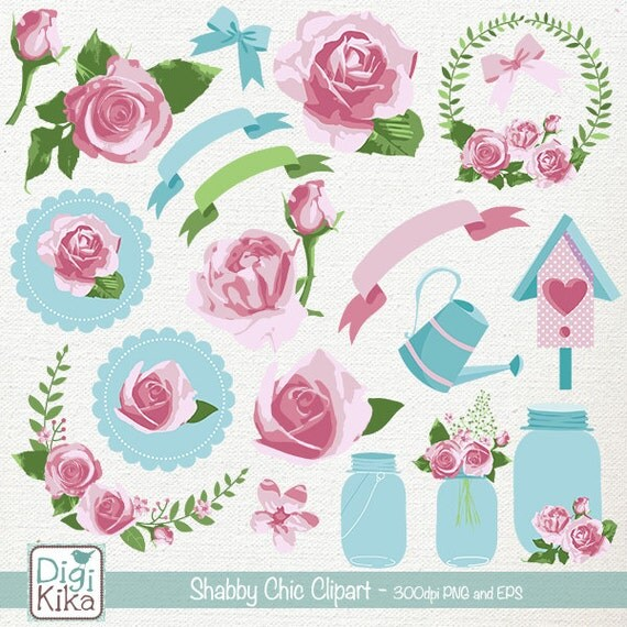 Shabby Chic Clipart Rustic Wedding Clip Art Floral Rustic