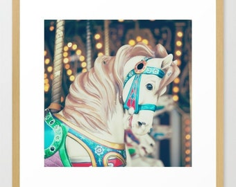 Carousel horse, boy nursery decor, boy nursery wall art, nursery wall decor, toddler room decor, boy nursery art, nursery prints, carnival