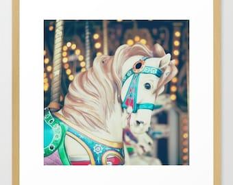 Carousel horse, boy nursery decor, boy nursery wall art, nursery wall decor, toddler room decor, boy nursery art, nursery prints, carnival