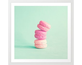 SALE, Macarons, Laduree, canvas wall art, blush wall art, canvas art, pink wall art, macaroons, macaron, wall art canvas, large wall art