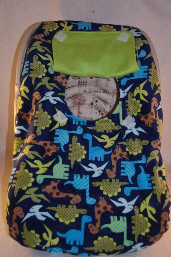 winter minky car seat cover navy dinosaur minky fits rear. Black Bedroom Furniture Sets. Home Design Ideas