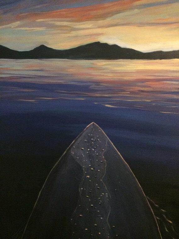 Sunset Paddle on Tahoe