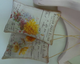 French Botanical Print Lavender filled Pillows