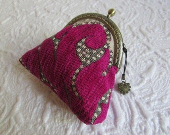 1A - Coin purse - Fabric with Metal Frame, handmade, wallet