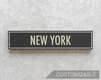 NEW YORK City Sign - Hand Painted on Wood