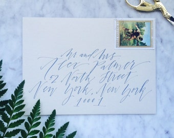 Messy Calligraphy on Addressed Envelope by Professional Calligrapher
