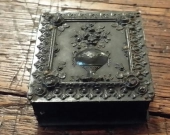 Antique Thermoplastic Union Case Picture Frame with Peck and Company Label 1/16th Plate