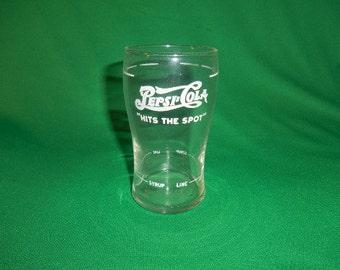 "One (1), 6"" Pepsi Cola, Soda Fountain, Syrup Glass."