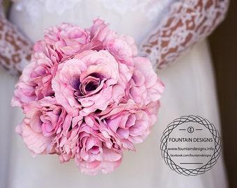 Mauve Rose Bouquet (Premium)