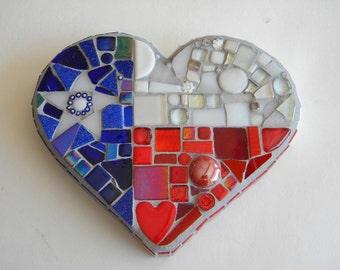 Texas Flag Heart Mosaic - CHARITY CONTRIBUTION