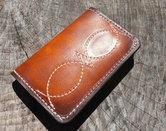 Front Pocket Card Wallet, Western Wallet, Minimalist Wallet, Simple Wallet, Leather Wallet. Men's Leather Wallet