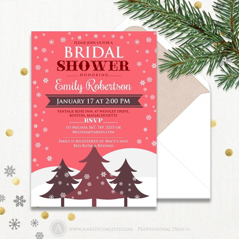 diy winter bridal shower invitations - 28 images - blue silver ivory ...