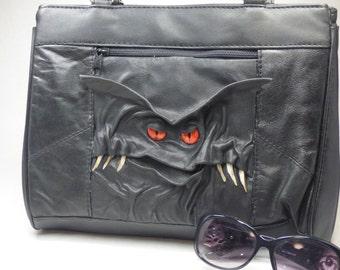Two Faced Monster Purse Large Handbag Black Leather Harry Potter Labyrinth